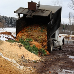 Delivering compostables from diverse Cornell waste streams to the compost facility