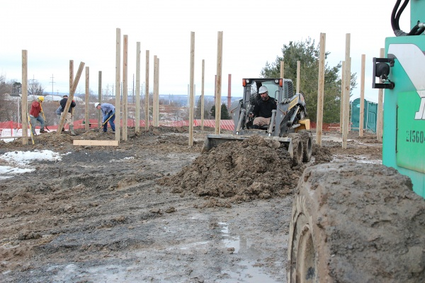 Construction of the new barn has begun